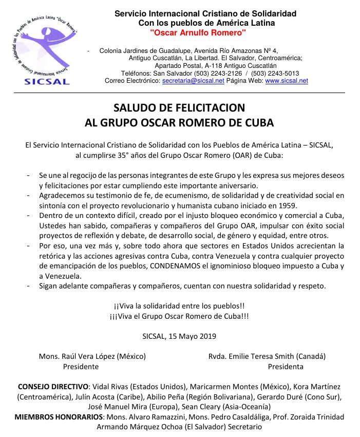 35 Aniversario OAR de Cuba