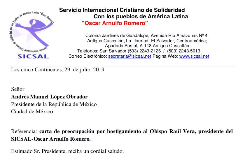 Hostigamiento a Raúl Vera